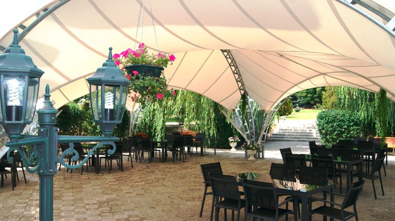 Шатёр-ресторан на летней площадке в «Синей птице»!
